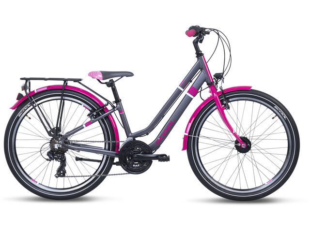 s'cool chiX twin alloy 24 21-S Kinderen, blackberry